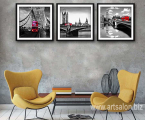 London-Tower-Bridge-Red-Bus-Poster-Minimalist-Canvas-Painting-Black-White-Cityscape-Wall-Picture-Print-Modern