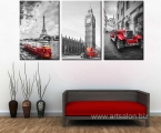 Modern-Canvas-Living-Room-Home-Decor-3-Panel-Eiffel-Tower-Big-Ben-Paris-Printed-Pictures-Painting