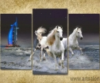 Arab Horses. Размер 100х150 см. цена зависит от размеров (ночное небо можно украсить мелкими стразами)