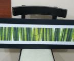 Бамбук, 100х30 см широкая рамка из мдф черная матовая эмаль
