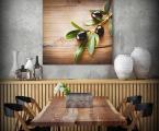 Картина на кухню ветка маслины, 60х60-см Картины на панелях из дерева самый модный тренд для украшения интерьера