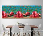 Модульная-картина-на-кухню-плоды-граната-60х185-см