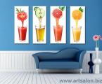 4 juice panels height 70 cm