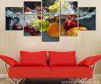 5-Panel-Wall-Art-oil-font-Fruits