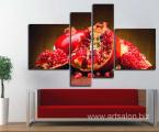 Modulnaya-kartina-pop-art-modern-decor-4-chasti-granat-100x170-sm 40 у.е. (предзаказ)