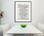 Poster quotes the kitchen