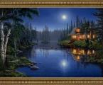 Hunting Lodge Картина в багете, размеры любые на заказ (заказ от 2-3 дней)