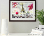 Репродукция Париж, весна, акварельная бумага