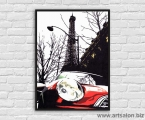 Paris-red-car