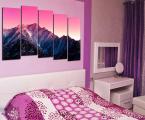 Модульная картина горы в спальне ширина 200 см (размеры можно сделать меньше)