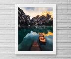 Mountains, boat, frame-size 60x80 cm. 20$ Рамки для фото и картин натуральное дерево, дуб, орех, сосна. Строгие хай тек, широкие, узкие, прямые и т.д. (можно красить в любые цвета) Все фото после печати покрываются защитным лаком (фото без лака со временем выцветают и тускнеют, вы сами можете проверить, возьмите фотографию из вашего альбома и положите ее на солнечный свет) Стекло для фото в рамке не обязательно, оно хрупкое, травмоопасное и дает сильные блики из за чего не видно самой фотографии а только блики, тени и ваше отражение как зеркале, это плохо, картина должна быть видна со всех углов (орг стекло так же боится царапин и со временем оно мутнеет, при желании можете заказать нам рамки со стеклом) Присылайте свои фото на печать, наша работа самая качественная на рынке фото и картин! Пишите нам artpost@bk.ru