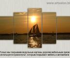 Lodka-zakat-noch-razmer-100x180-sm (Обычно размер модульных картин указывается по широкой стороне, средние размеры от 1 до 2 м (высота встанет автоматически) на фото размер 100х180 см если нужна короче значит она будет 90х170 см и т.д.