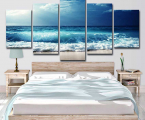 Modular-wall-art-canvas-painting-sea