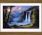 Painter waterfall. Любые картины красками на холсте, работу выполнит опытный художник