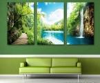 Triptych waterfall