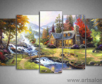 Modulnaya-kartina-jivopis-rayskie-gori-art-print-decor-Thomas-Kinkade