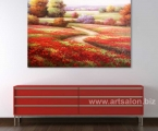 Reproduction of red poppies, size 60х80 cm