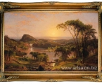 'Summer;+Lake+Ontario+1857'+Framed+Graphic+Art+Print+уццon+Canvas