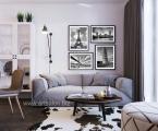 Poster_Frame_Modern_Art. Данный стиль размещения постеров на стене самый модный, можете заказать нам любые фото