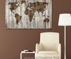 World map in Art modern style, size 60x90 cm. цена 15 у.е.