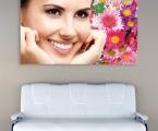 Art décor panel for dentistry, size 60x107 cm. Для любителей блеска на цветы можно наклеить мелкие стразы. Цена 30 у.е.