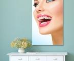Art décor panel for dentistry, size 60x110 cm. Суперкачественная печать, фото на гладкой легкой панели, покрытие защитный лак. Цена 30 у.е.