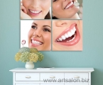 Art decor on the wall, 4 panel Dentistry