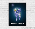 Planet-Tooth-poster-print-canvas-any-size