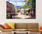 Italy-Painting-print-canvas-tryptih 80x110 sm
