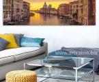 Panorama of Venice panel, size 60x190 cm. Жесткий и легкий планшет, вид мебельной плиты, внутри он полый, толщина 2 см, фото покрыто защитным лаком, матовым или глянцевым. Модули легко и плотно крепятся к стене за край, не надо никаких крючков и креплений. Наши работы нельзя порвать, проткнуть, они не боятся влаги в отличии от картин на холсте и не такие опасные как картины на стекле. (которые дают сильные блики, отражения, там видны только цветные пятна) Наша печать не выгорает, не выцветает. Суперкачество!