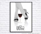 Постер, девушка, вино_60х90_см