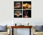 4 Panel_wine and whiskey. Размеры квадратных панелей могут быть разные, максимальный размер 1 шт 60х60 см (цена зависит от размеров)
