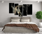 5_piece_group_canvas_bedroom_large_pictures_champagne_canvas_wall_art