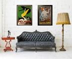 Art-deco-retro-poster-wood-frame