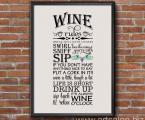 wine-rules-wall-decor размеры любые А-4 до 60х90 см