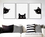 3-black-cat-frame-art-modern-60x45-sm-1-piece