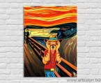 Comic Parody on the picture Scream, size 60x80 cm 15 у.е